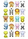 20, 3 niedliche Tiere, vorgeschnitten, 4 cm, Zuckerguss, Affe, Löwe, Schlange, Motiv Delfin