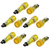 Lampara indicadora empotrada - TOOGOO(R)10pzs DC 12V Lampara indicadora de senal luz piloto amarilla empotrada
