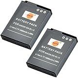 DSTE® 2x EN-EL12 Li-ion Batería para Nikon Coolpix P300, P310, P330, P340, S31, S70, S610, S620, S630, S640, S800c, S1000pj, S1100pj, S1200pj, S6000, S6100, S6150, S6200, S6300, S8000, S8100, S8200, S9050, S9100, S9200, S9300, S9400, S9500, S9600, AW100, AW100s, AW110, AW110s, AW120s