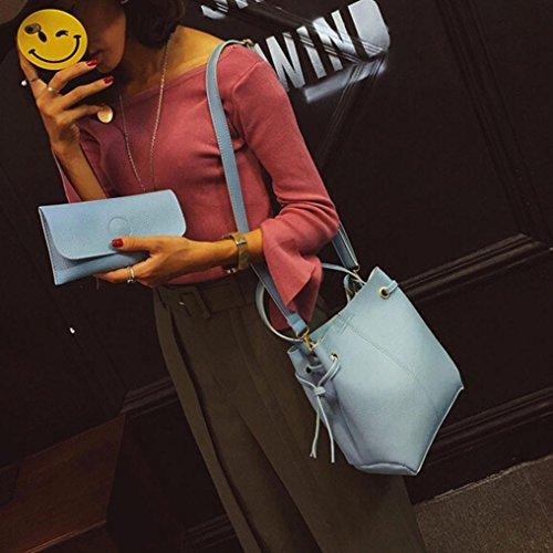 Croce Corpo Messenger Shoulder Bag + Pochette blu