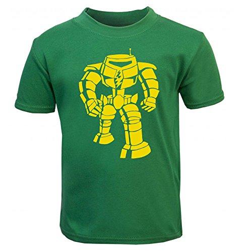"""MANBOT T Camisa diseño con inscripción en inglés """"Bazinga Big Bang Theory Sheldon Cooper–serie de televisión Robot niños Kids–Camiseta para niños verde Emerald Green Talla:5 - 6 Years"""