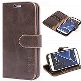 Mulbess Ledertasche im Ständer Book Case / Kartenfach für Samsung Galaxy S7 Tasche Hülle Leder Etui,Vintage Braun