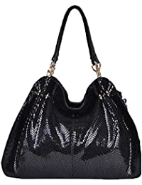 Damas De Piel De Serpiente Pu Bolsos De Cuero CrossBody Top Handle Bag Satchel Shoulder Bag