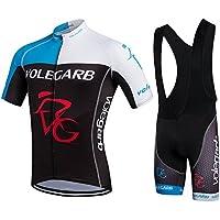Fastar Maillot Ciclismo Verano para hombres y mujeres - Jersey de Manga Corta + Pantalones Cortos Ciclismo para bicicletas y moto