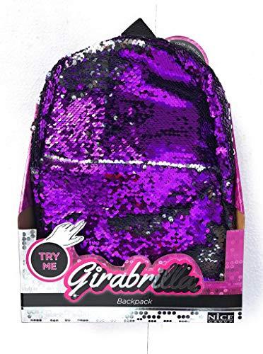Girabrilla backpack Zaino colore VIOLA/ARGENTO originale di Nice 02505