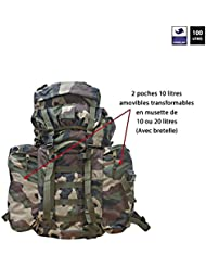 Ares - Sac à dos 100 L Ripstop camouflage - Cam centre europe