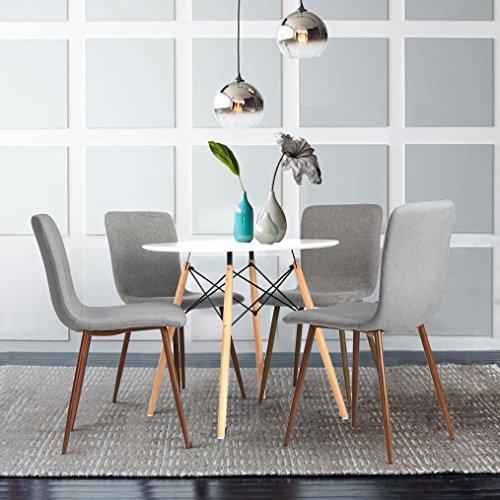 Set di 4 sedie Eames Coavas tessuto cuscino per gambe di tavoli e ...