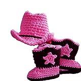 hrph Nuevo diseño del bebé del sombrero de vaquero del ganchillo de...