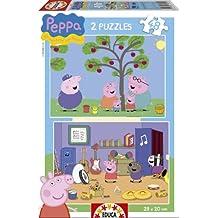 Puzzles Educa - Peppa Pig, 2 puzzles de 48 piezas (15920)