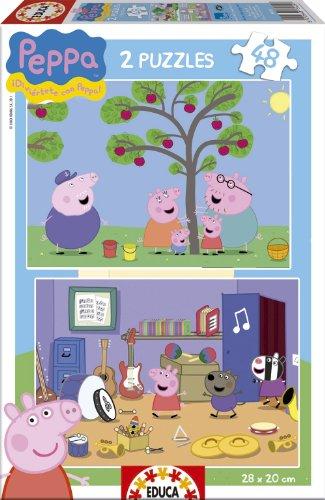 Peppa Pig - Puzzle, 2 x 48 pezzi (Educa Borras 15920)