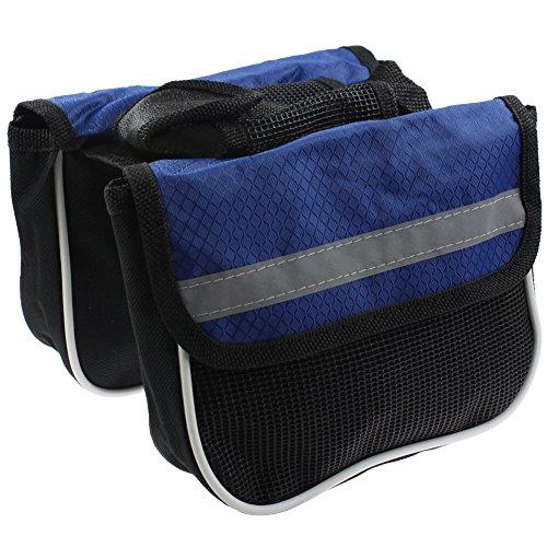 RUKEY Fahrradtasche für Vorderrahmen und Fahrrad, mit Handytasche, Größe M, blau