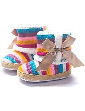 ❆HUHU833 Kinder Mode Baby Stiefel Soft Sole, Regenbogen-weiche Schnee Stiefel, Soft Crib Schuhe Kleinkind Stiefel...