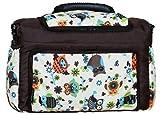 TK-43 Wickeltasche KIM von Baby-Joy XXXL Übergröße Graphit Braun Creme Eule 9 Windeltasche Pflegetasche Babytasche Tragetasche