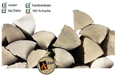ifea Deko Holzscheite - Holzstücke unbehandelte Buche - Natur pur Dekoration - 10 kg - Kamin-Holz - Dekoholz Brennholz - Kamin Den Holzscheite Für