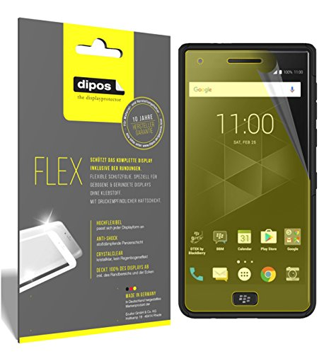 dipos I 3X Schutzfolie 100prozent passend für BlackBerry Motion Folie (Vollständige Bildschirmabdeckung) Bildschirmschutzfolie