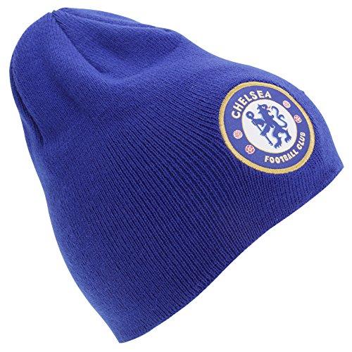 Chelsea Knit Beanie (Offizielle Fußball Mannschaft Erwachsenen Strick Beanie Mütze (Verschiedene Mannschaften zur Auswahl.) alle mit Offiziellen Etiketten. Gr. One Size, Chelsea (Blue))