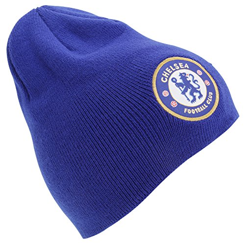 Chelsea Knit Beanie (Chelsea F.C. Herren Strickmütze Blau Chelsea (Blue) One Size)