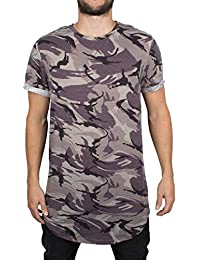 T-shirt camouflage Sixth June coupe arrondie gris 1823C