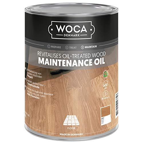 Woca Pflegeöl Grau 1 Liter für grau geölte Holzböden