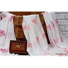 Tura Turi - Muslin Swaddle (Indian Tusker PINK) - Set of 3