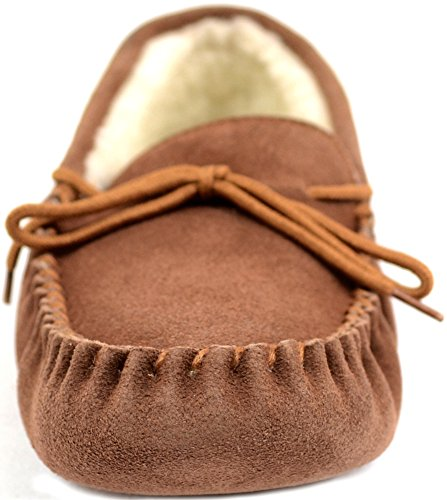 SNUGRUGS Wool Lined Suede Soft Sole, Mocassini Uomo Marrone (Brown (Light Brown))