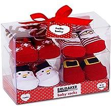 16276a92e142 BRUBAKER 4 Paia di calze bambino ragazze 0-12 mesi - Fun Sneaker