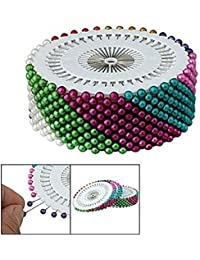 Sourcingmap Needlework Faux Pearl Head Sewing Corsage Pins, Plastic, Multi-Colour, 480-Piece