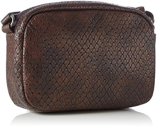 Tamaris Damen Ava Umhängetasche, 5x14x20 cm Braun (Dark Brown Comb)