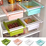 Kühlschrankbox Küchen Aufbewahrungsbox Schublade Aufbewahrungskiste Dekobox Optik (Gruen)