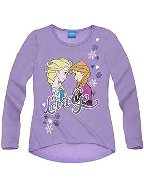 Disney Die Eiskönigin Elsa & Anna Mädchen Langarmshirt 2016 Kollektion - lila