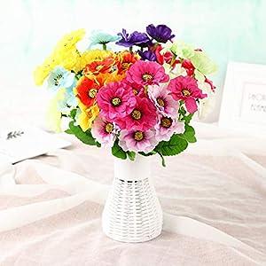 yueyue947 Flor Artificial pequeña de la Amapola/Ornamentos de la decoración de la Flor Falsa/Flores Artificiales Flores…