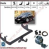 ATTELAGE avec faisceau 7 broches | Dacia Sandero de 2008 à 2012 / crochet «col de...
