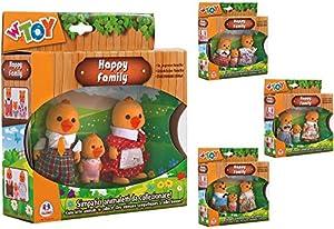 GLOBO- Flocked Dressed Animals Family 3 Piezas 4Asstd (37890), (1)