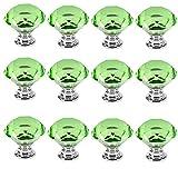 12 PCS 40mm Grün Kristallglas Diamant Form Kreative Türknopf Kabinett Knob Schrank Schublade Ziehen Griff Möbelgriffe Set Tür der Schublade ,Schrank , Kleiderschrank