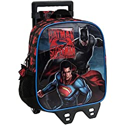 Warner 25820M1 Superman-Batman Mochila Infantil, 5.75 Litros, Color Gris