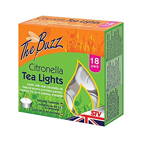 Dicoal STV423 Tea Lights Lot de 18bougies parfumées à la citronnelle