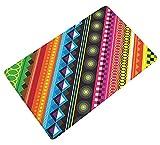 Psychedelic Color mat Door mat digital Printing Foot mat Bathroom Kitchen Toilet Strip Absorbent Non-Slip mat (c)
