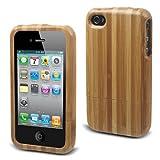 muvit Wood Back Coque en bois naturel pour iPhone 4 Bambou