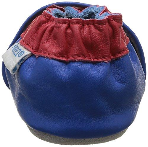 53 Krabbelschuhe Robeez Baby Jungen Racing Red blue Blau SqUqB0wt