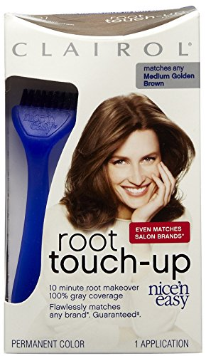 Clairol Coloration permanente Nice 'N Easy Root Touch-Up - Retouche des racines en 10 minutes - Couleur 5G - Brun doré moyen