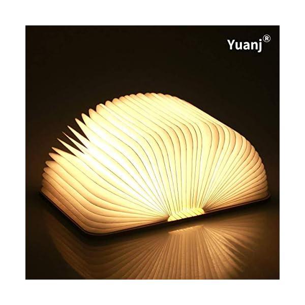 Lampada Libro USB Ricaricabile, Lampada a Forma di Libro, Luce LED di legno, Decorativi Lampada da Tavolo -1000mAh Mini… 1 spesavip