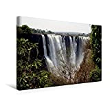 Premium Textil-Leinwand 45 cm x 30 cm quer, Victoria Falls, Sambia / Simbabwe | Wandbild, Bild auf Keilrahmen, Fertigbild auf echter Leinwand, Leinwanddruck (CALVENDO Orte) - Richard Walliser