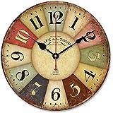 Relojes de pared Sannysis Despertadores electrónicos reloj de madera 30cm diámetro