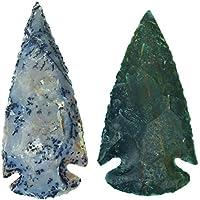 HARMONIZE Reiki heilende Kristall Handgemachte natürliche Pfeilspitze Satz von 2 Speerspitze Achat Stein preisvergleich bei billige-tabletten.eu