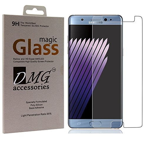 Dmg Samsung Galaxy Note 7 Tempered Screen Protector (2.5D Bubble-Free , No Fingerprints Anti-Scratch Oil Coated Washable) - *Not Cover Screen Edges  available at amazon for Rs.129