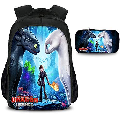 How to Train Your Dragon Mochila Impresión 3D Mochilas Infantiles Mochilas Escolares...