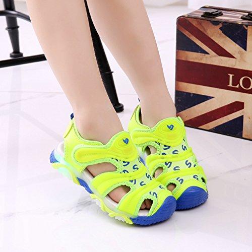 YiLianDa Sandales Enfant Fille Garçon Chaussures été Confort Coastal Vert