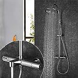 Khguggi Duscharmaturen/Waschbecken Wasserhahn - Moderne Chrom Wandmontage Keramisches Ventil,10