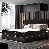 BedStory Matelas Ressorts Ensaches 140x190 avec Couche en Mousse à Méroire de Forme Gel Respirant et Design 7 Zones de Confort, Soutient Plus Effacacement, Sommeil Tranquille, Epaisseur 22cm