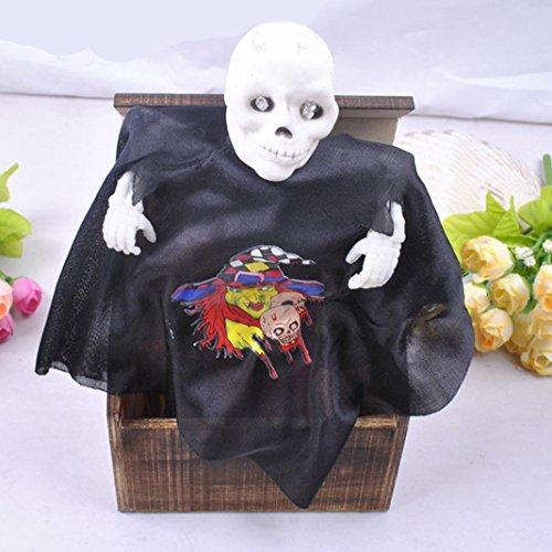 Neuheit Geschenk für Halloween, Asnlove Schrecken die schwarzen Mann Gespenster ganze Spielzeug 22*12*11cm Design (Lady Kostüm Gespenst)